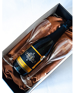 Brut Chardonnay and flute gift set